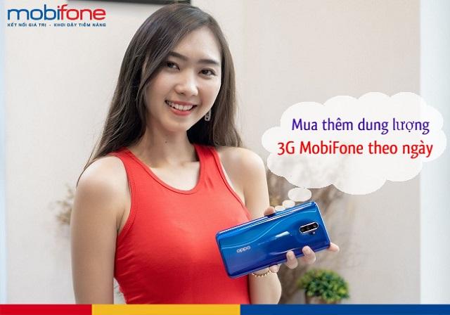 Mua thêm dung lượng 3G Mobi theo ngày