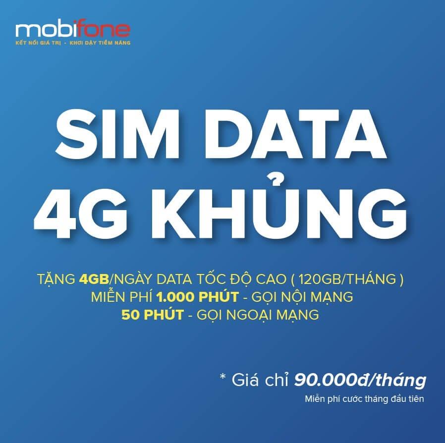 Sim Data Mobi được bán phổ biến